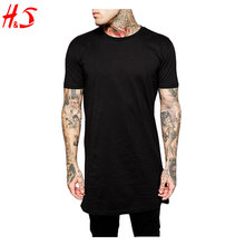 100% Cotton T Shirt Wholesale Made Clothing Factories In China Longline T Shirt In Bulk With Relaxed Skater