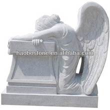 Kneeling Angel White Granite Headstone Benches