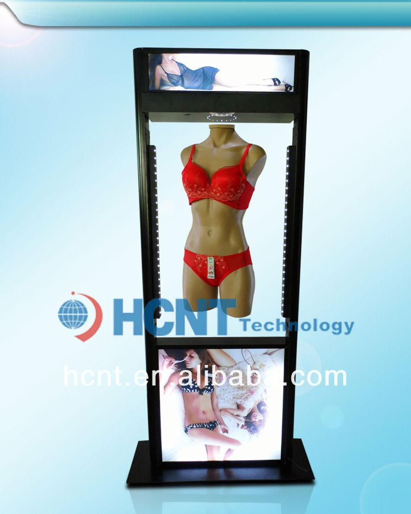 New Invention ! magnetic levitation led display rack for underwear, women pants and bra sets