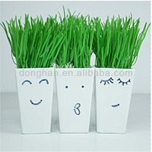 ceramic home decorative items the smiley face modern vase