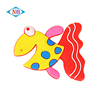 Custom funny fish shape rubber fridge magnet sticker wholesale