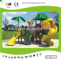 2013 KAIQI hot sale park playground plastic rotational playground bear door slide