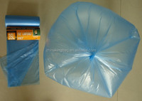blue color plastic trash & garbage bag