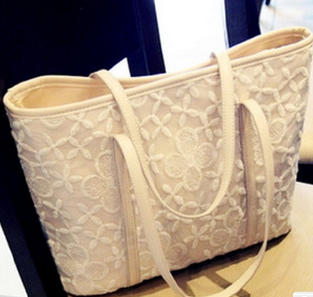 British style fancy lace flower shoulder bag alibaba supplier fashion girls handbags