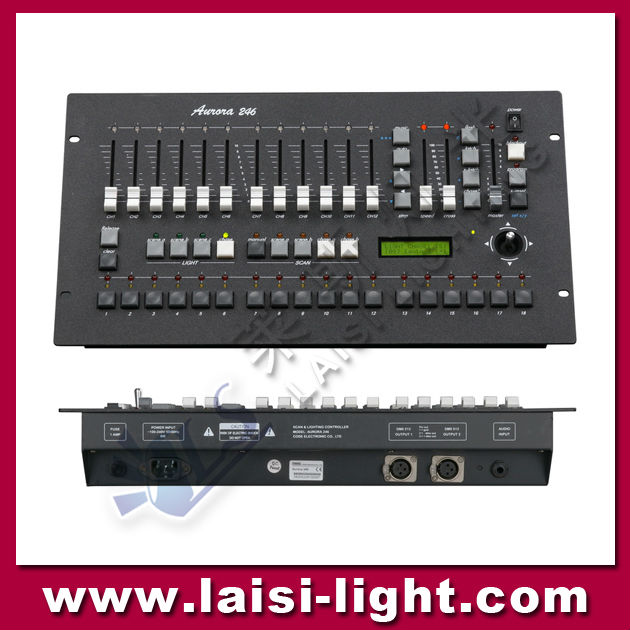 LS-697 DMX-246 Computer Controller/DMX512 light controller and sound activated dmx controller