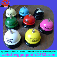 7.4 cm Students gifts wholesale Creative ring dinner bell metal crafts bell kiss love drink tea coffee beer bell