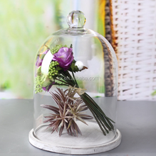 Glass bell dome for home decoration indoor
