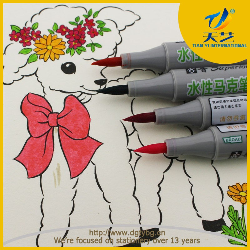 Promotional cheap marker children vibrant colors art marker