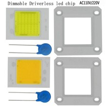 LED halogen lamp replacement 220v 110V dimmable COB chip 50W NO need driver support PWM dimmer