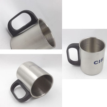 New 220ml /7 oz Stainless Steel Travel Coffee Mug Tea Cup Insulated Double Wall
