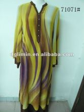 Double Layer Chiffon Kaftans for Women Dress