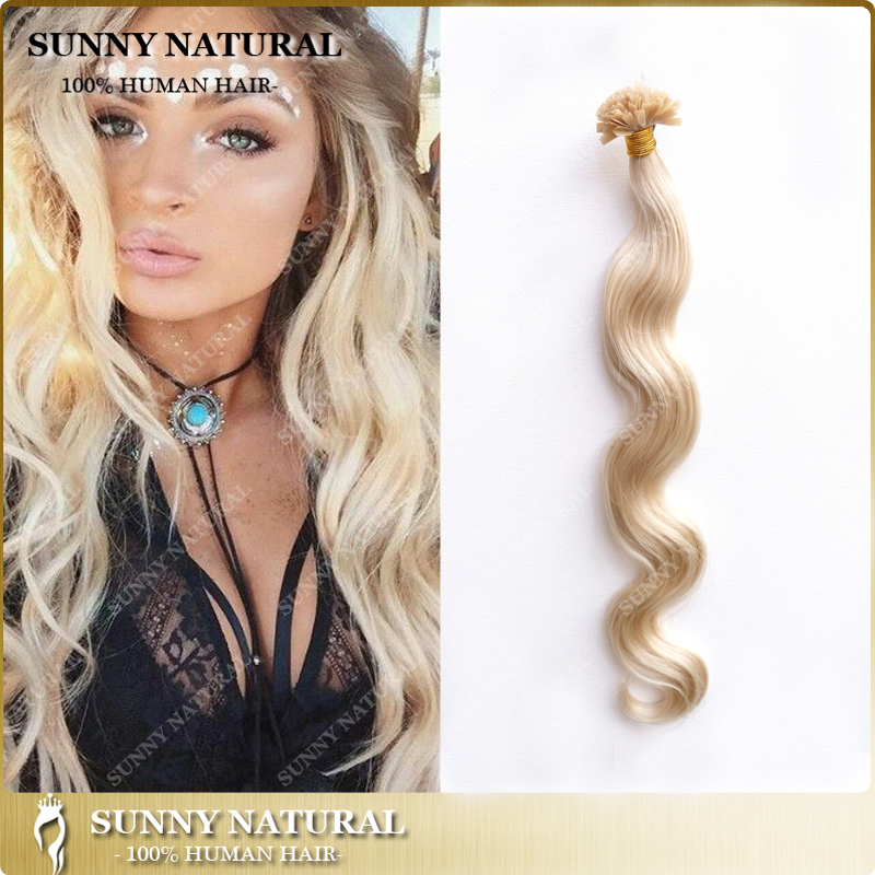 Wholase best quality 100g nail tip/<strong>u</strong>/v tip hair extensions pre-bonded hair remy human hair extensions