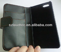 PU Leather CASE For Apple iphone 5 5S wallet Genuine Leather Cover Skin new