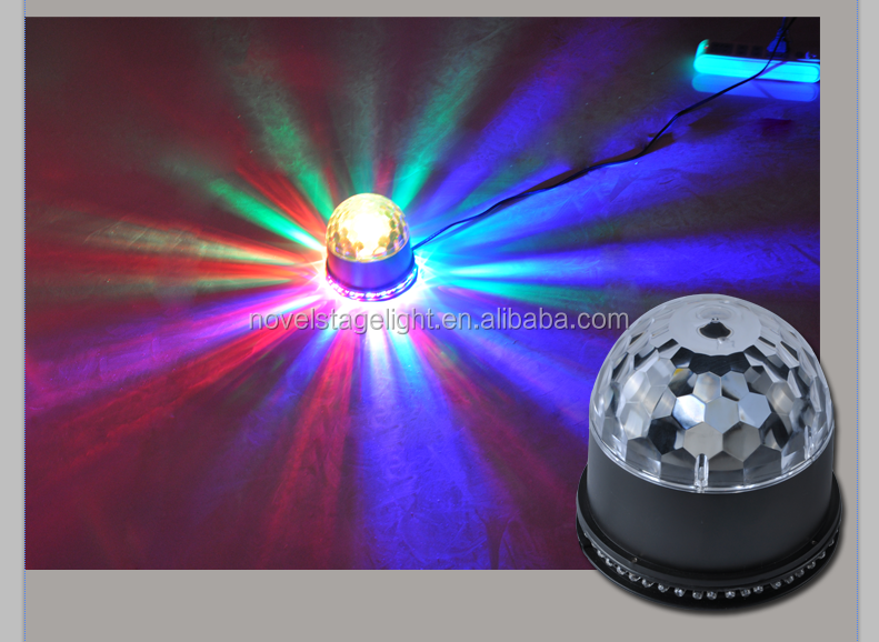 Christmas decoration LED flash light cheap LED magic ball light with MP3