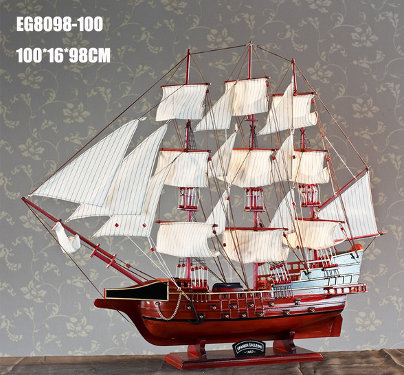 home decor handmade wooden craft sailing yacht ship model sailboat made in china for sale