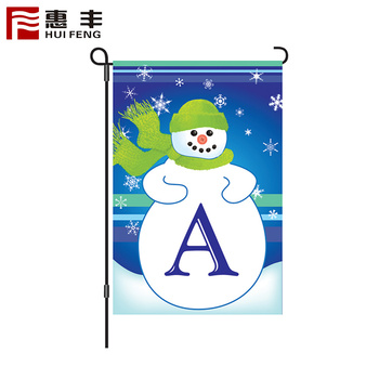 Custom size sublimated polyester garden decorative flags signs