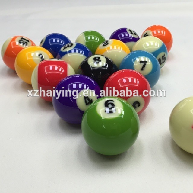 cheap billiard ball decorative customed logo Billiards Snooker Ball