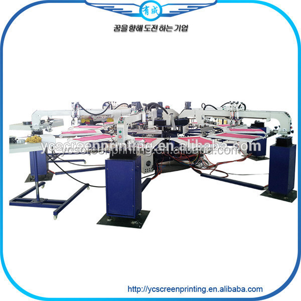 6 color automatic screen printing machine