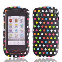 Fashional Rainbow Dots 2 pieces plastic cell phone case for Pantech Hotshot 8992 [ free screen protector ]
