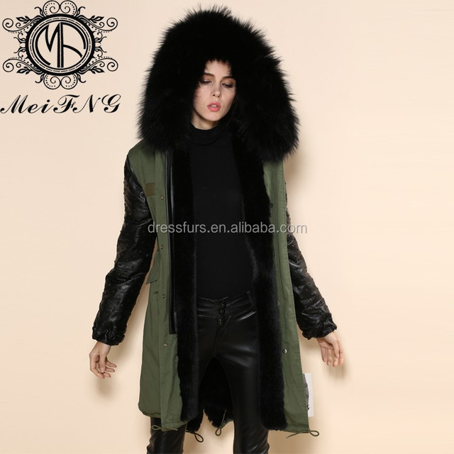 2018 army green real fur collar down parka, high quality fahsion plus size S-4XL mens&women winter windproof long style fur coat