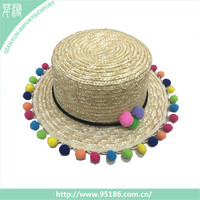 HT-103123 Zhejiang Qianxun small ball fashion beach lady straw hat