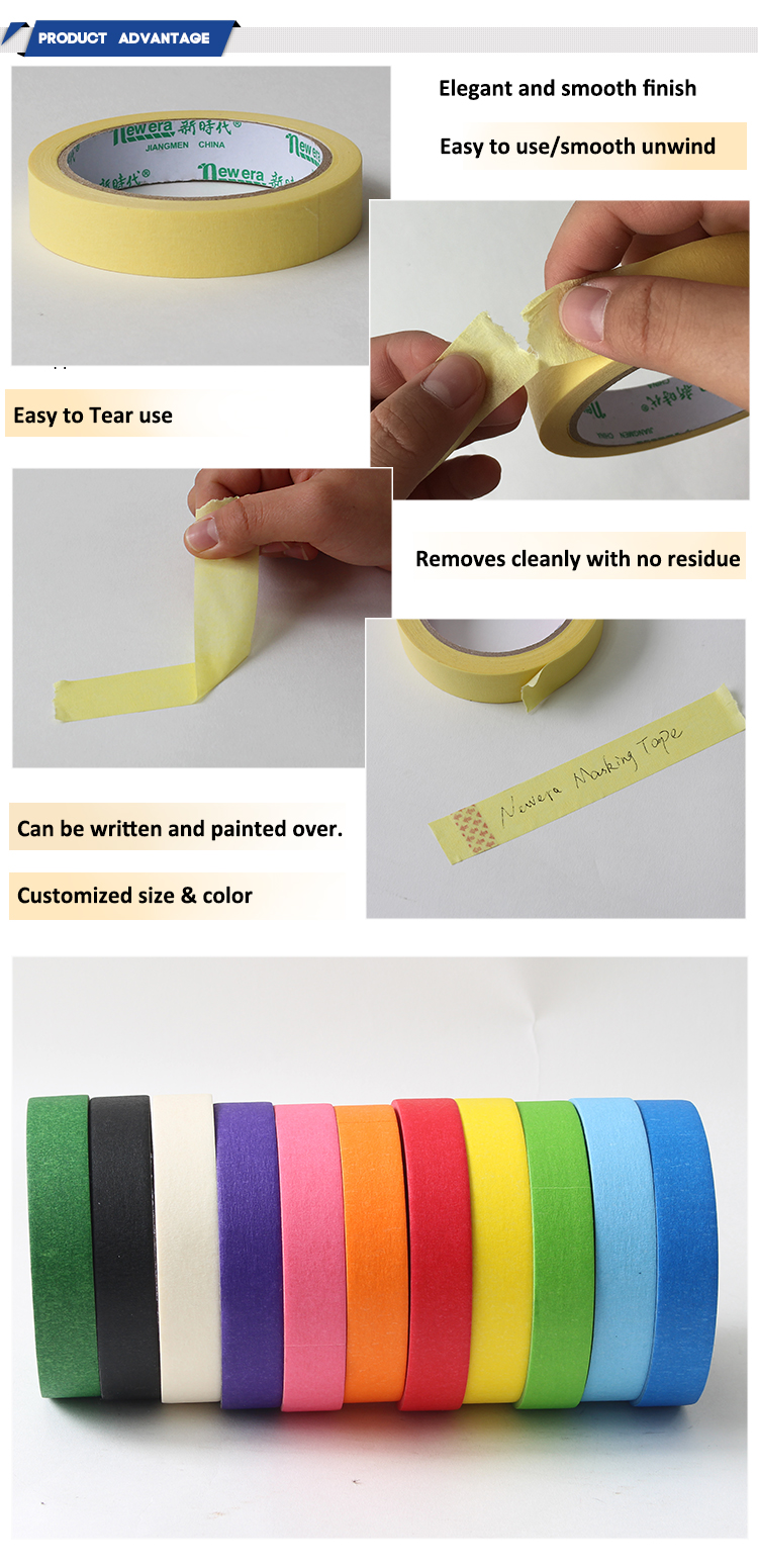 Best selling beige cheap waterproof masking tape