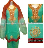 Girls Readymade Fancy Cotton Dress ( 3 Pcs suits )