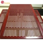 Rugged expanded metal wire mesh for outdoor facilities