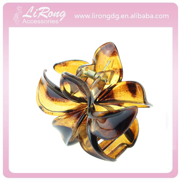 60mm hair claw clips for tortieshell flower