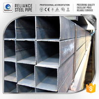 SS400 OILED BLACK SQUARE STEEL PIPE/TUBE BUILDING MATERIAL