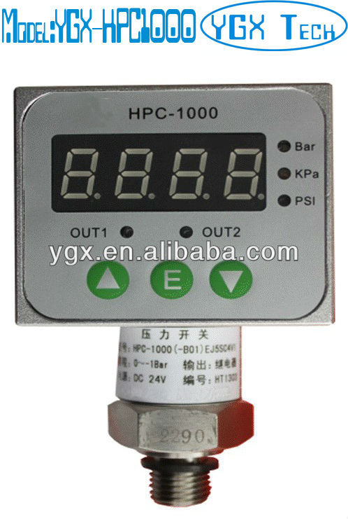 Automatic pump pressure control switch