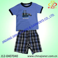 new design Baby-boys Infant Double Cloth Tee And Short Set