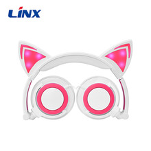 Cheapest LED Cat Foldable Headphone Headset for Mobile Phone