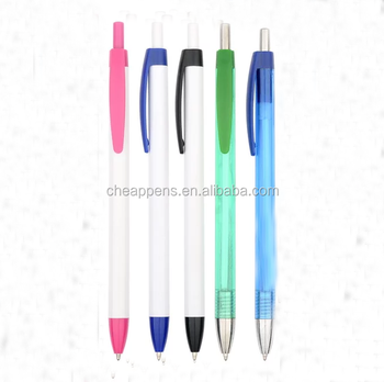 fine imprinted promotion plastic items ball pen with customer logo