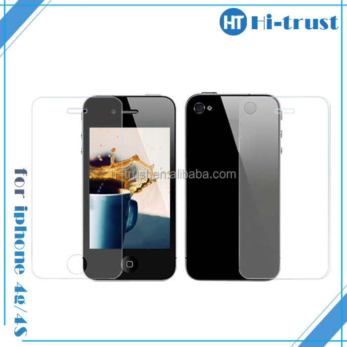 Hot! Front + Back Clear Full Body Protective Film Guard LCD Screen Protector for iphone 4 4g 4s CMDA
