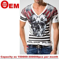 custom v-neck t shirt ,China wholesale cheap v-neck t shirt silk-screen printing v-neck t-shirt