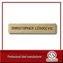 DB Laser Engraving Stainless Steel Nameplate