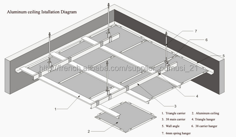Aluminum Ceiling Tiles 600x600 Metal Acoustic Ceiling