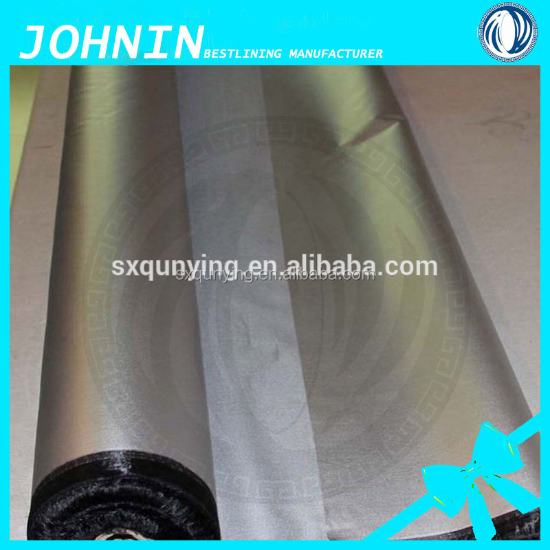 China supplier textile factory 190t taffeta lining fabric silver coated with waterproof for umbrella