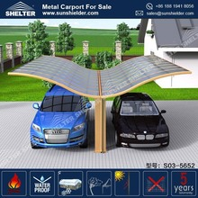 Aging Resistance Residential Double Slope Walkway Covers Canopies Customized Aluminum Large 4 Car Carport