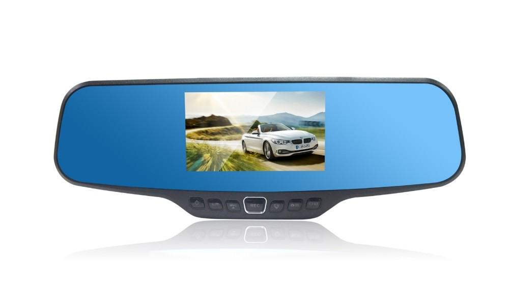 Cheap Price 1296p rearview mirror car dvr made in China
