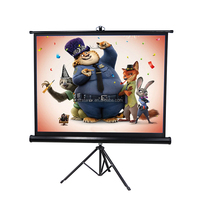 Portable Projector Screen Tripod Stand Screen 84 inch 1707*1280 Foldable Outdoor Projection Screen OEM/ODM customized