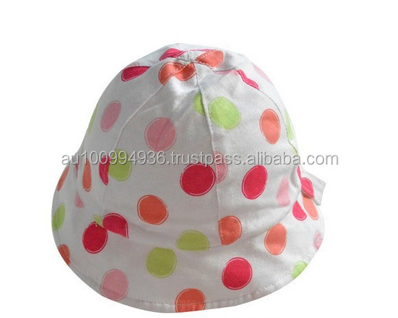 Baby's summer hat, Infant girl's summer hat, Kid's beautiful sun hat.MH-071