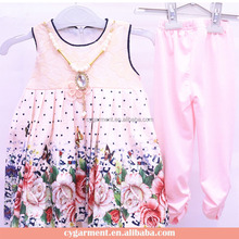 Wholesale China Boutique Fashion Baby Beaded Dress Girl Clothing Clothes Sets Online