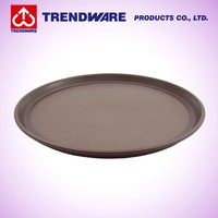 Bartender Cocktail Serving Non-slip Design Round PP Plastic Tray