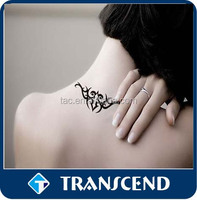 Beauty Removable Waterproof Temporary Tattoo/2015 Fashion designs body art temporary golden tattoo