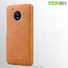 For Motorola Moto G5 Case MOFi Brand High Quality PU Leather + PC Back Hard Cover For Motorola Moto G5 Cell Phone Cover