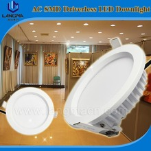 10w smd driverless downlight recessed low profile led ceiling light