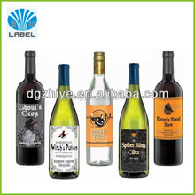 Manufacture Custom Liquor Bottle Labels Waterproof Wine Bottle Label, Printing Paper Self Adhesive Wine Label