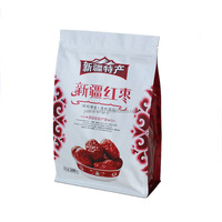 Zipper top plastic red dates packaging pouch with window